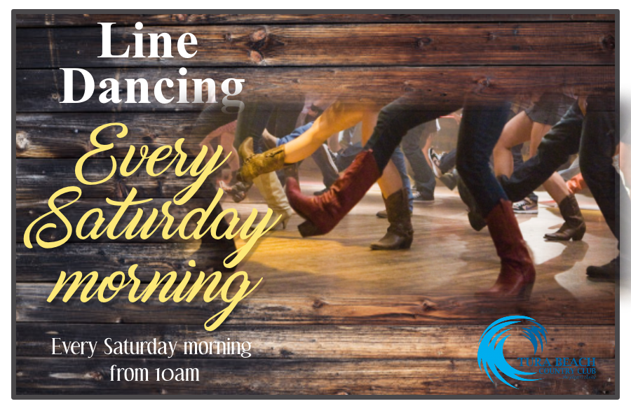 line dancing at tura beach country club