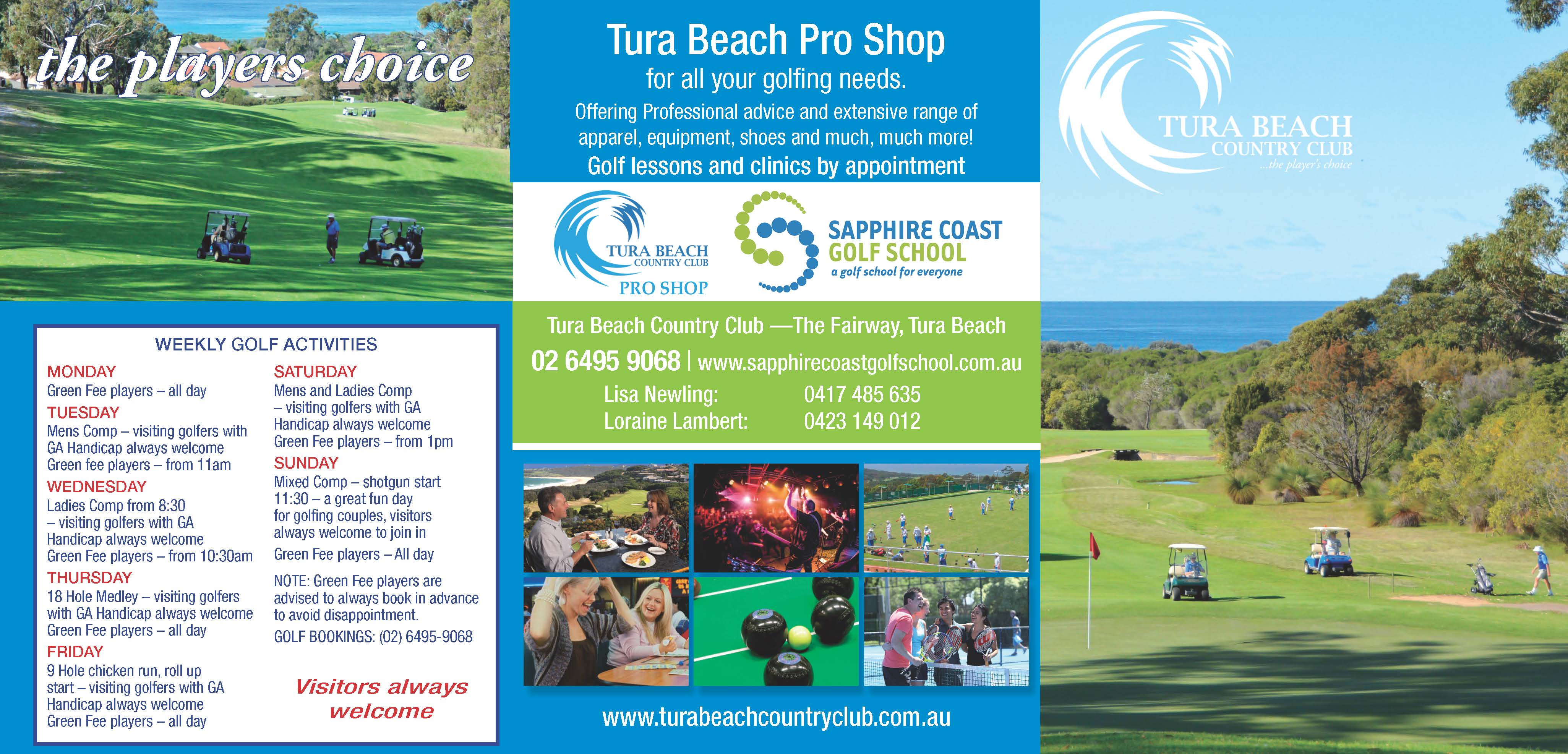 tura beach country club golf weekly program