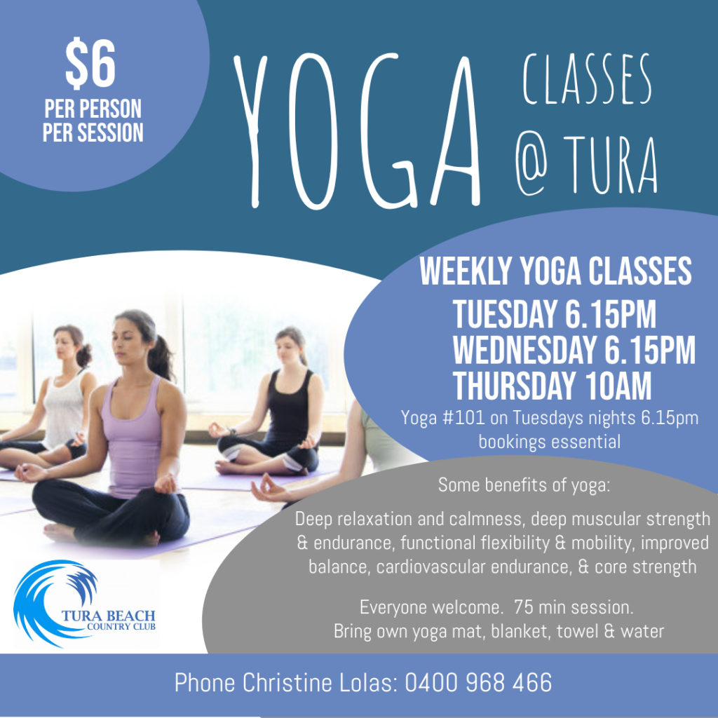 yoga at tura beach country club