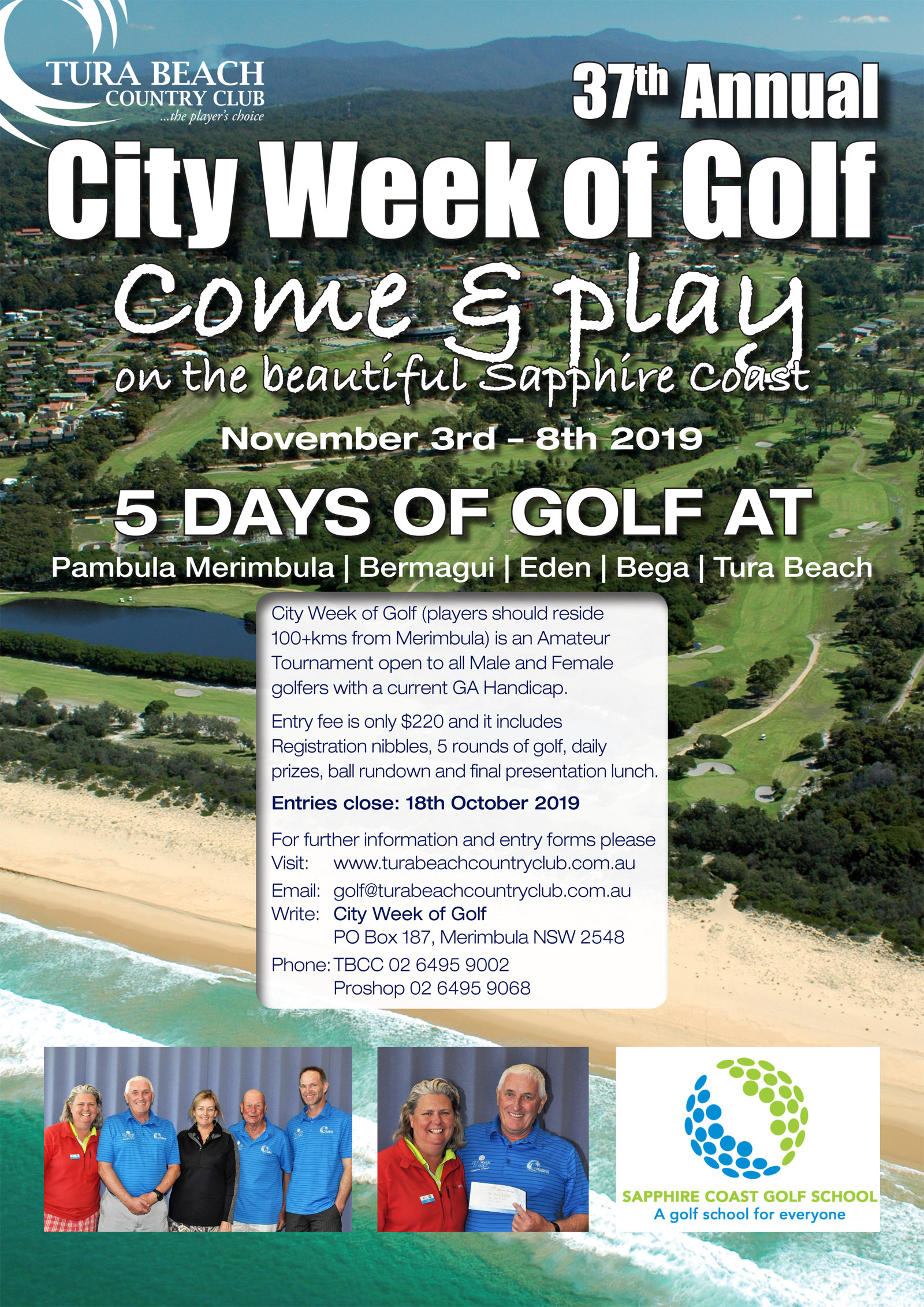 city week of golf tura beach country club