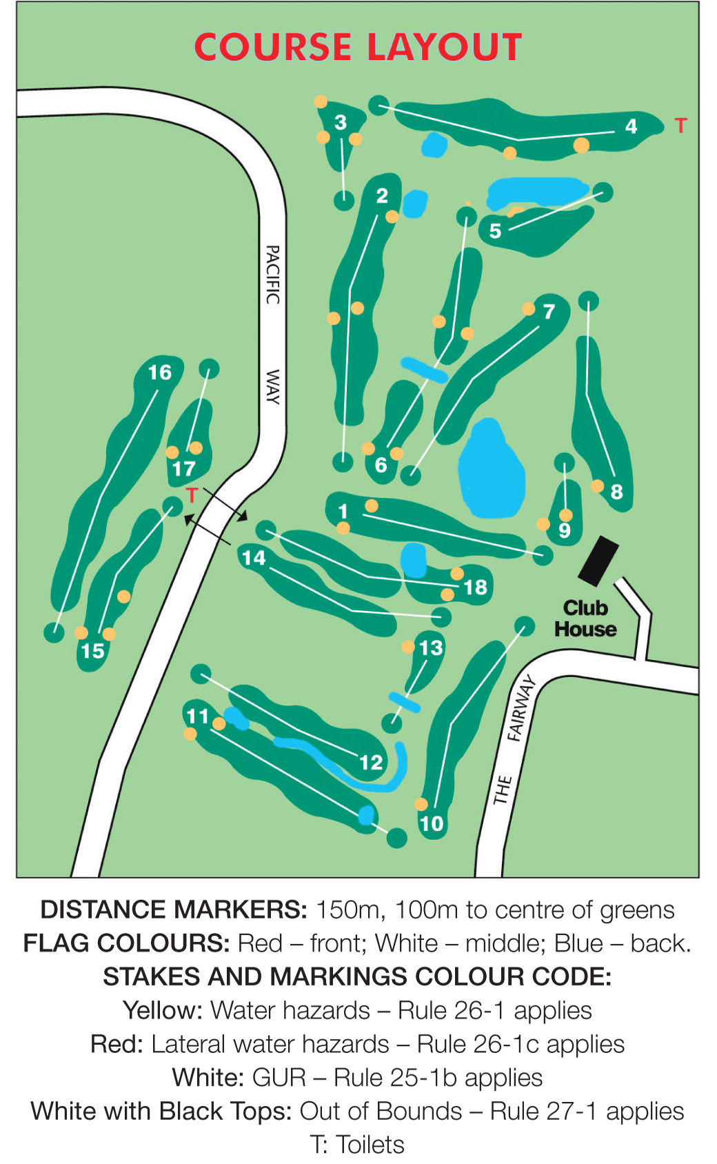 course layout and map tura beach country club