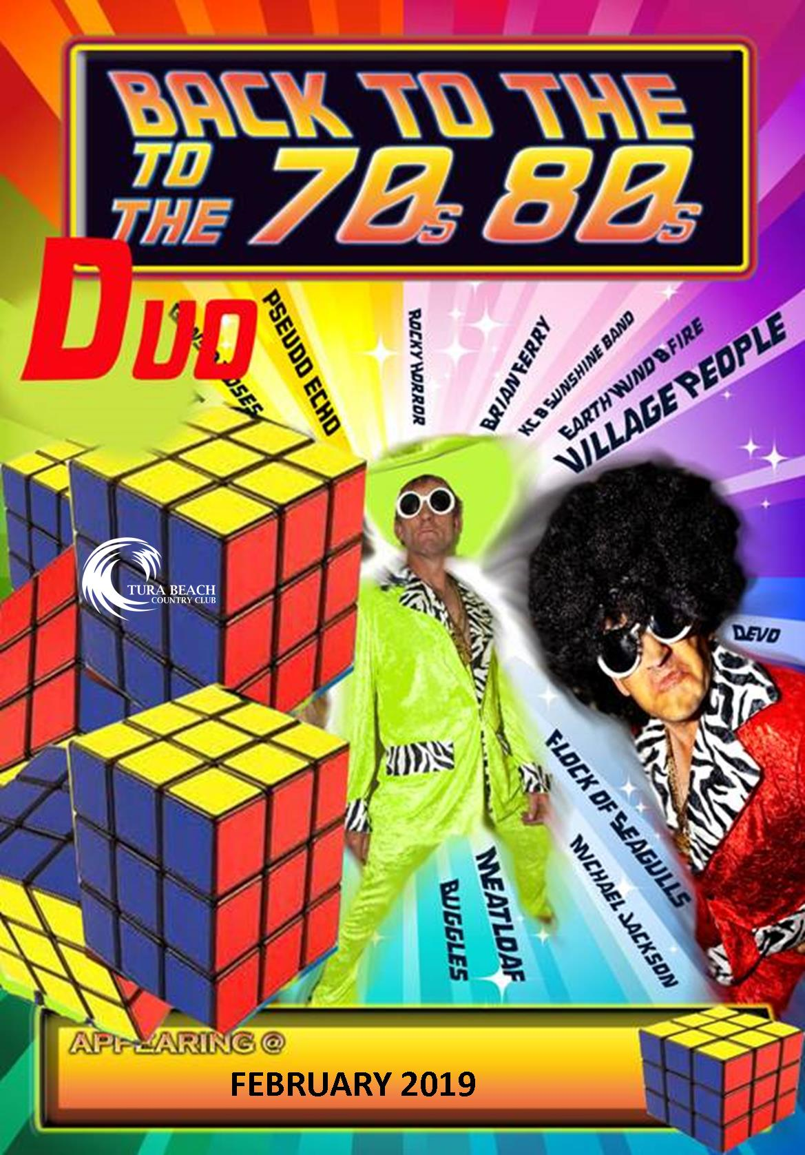 back to the 70s & 80s night - entertainment at Tura Beach country club