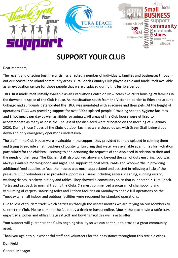 support your club