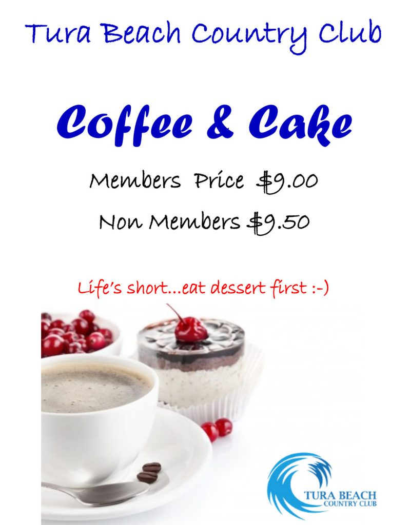 coffee and cake tura beach country club