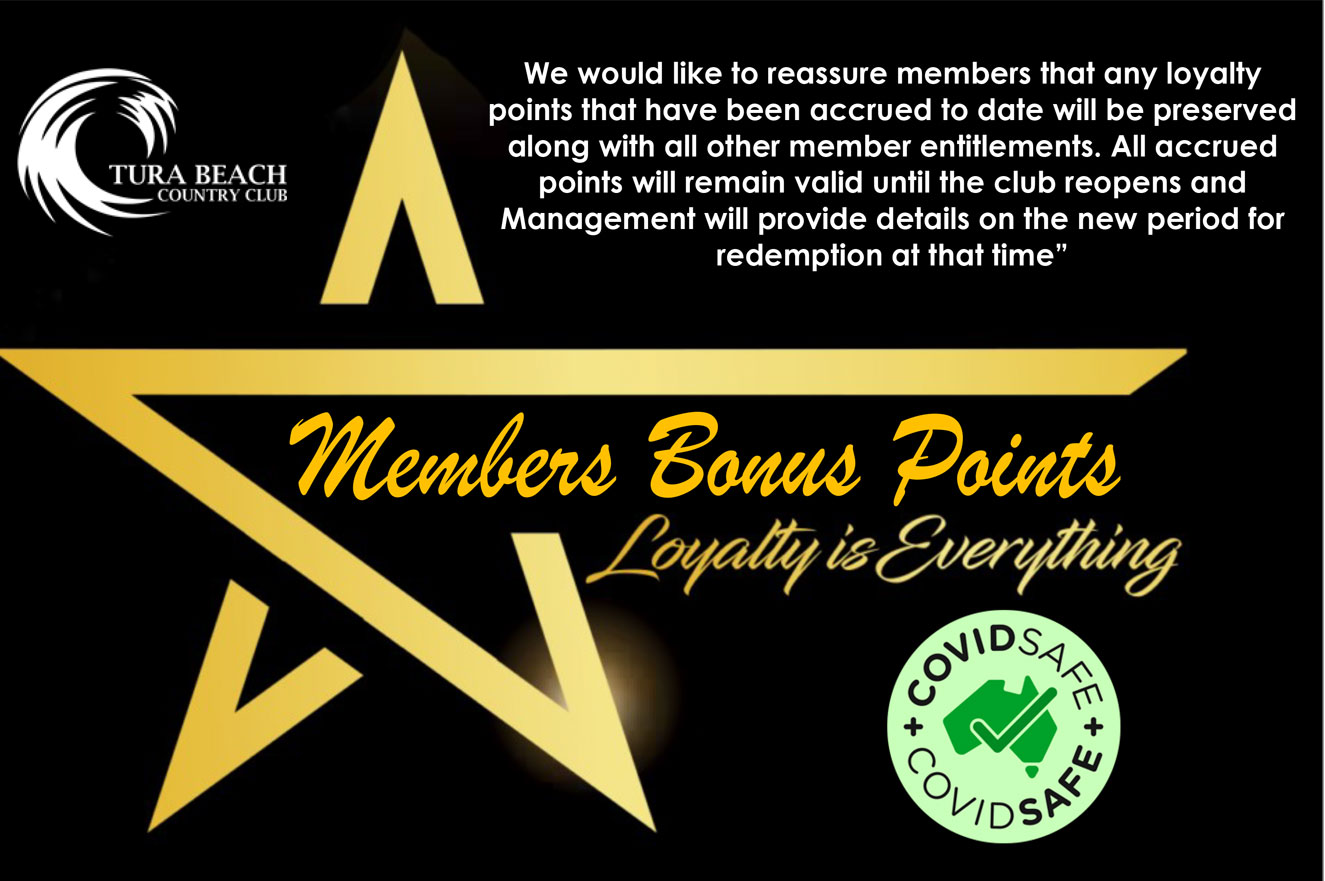 tura beach country club member bonus points