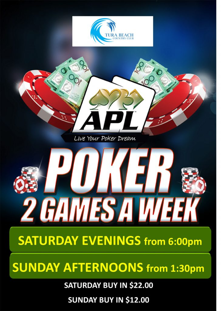 APL poker at tura beach country club