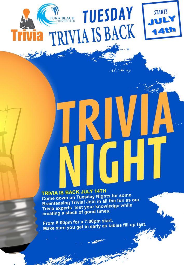trivia night at tura beach country club