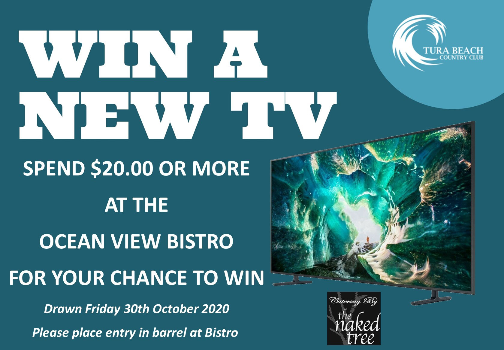 Win a new TV with Tura Beach Country Club