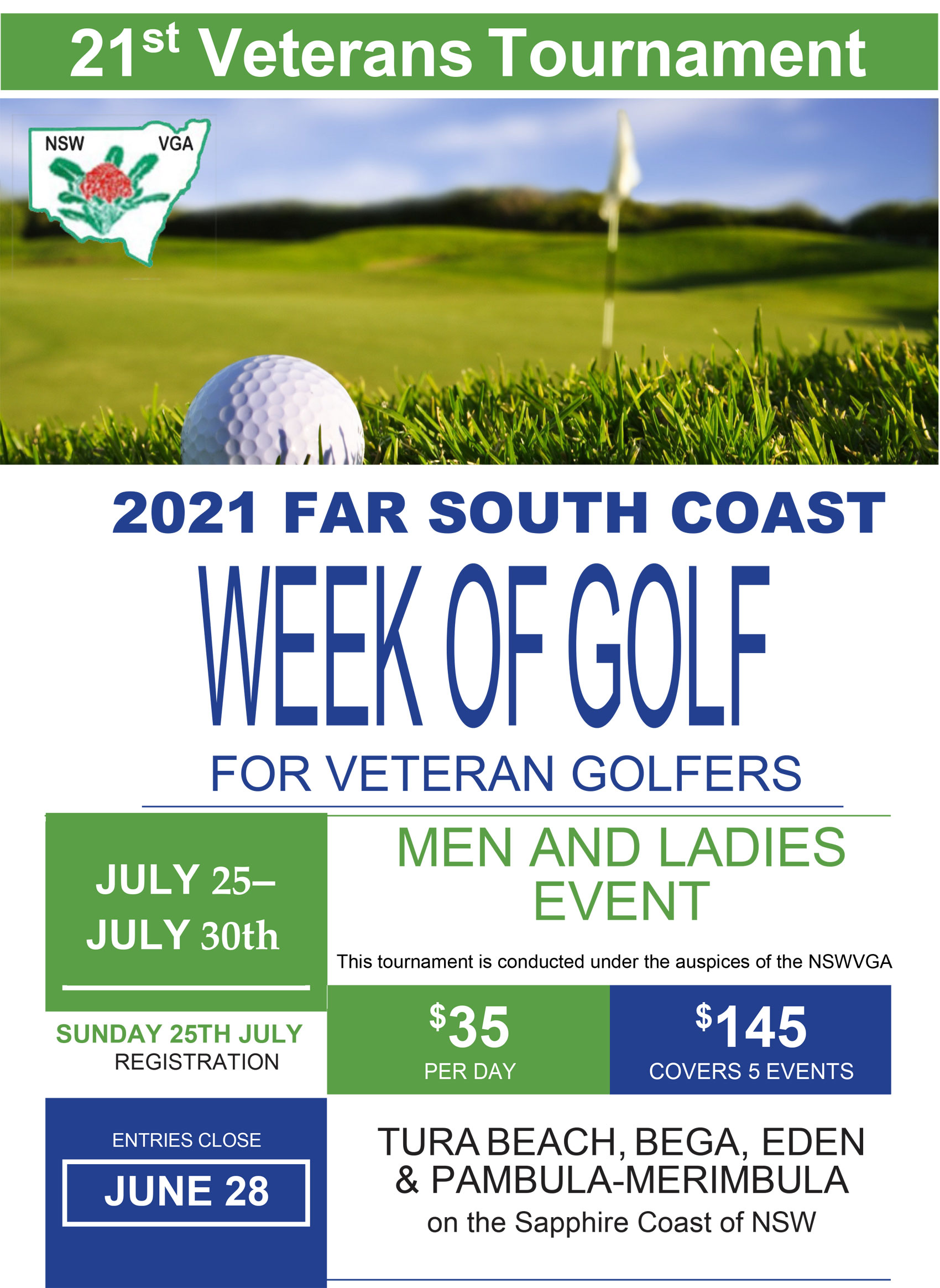 Veteran week of golf tura beach country club
